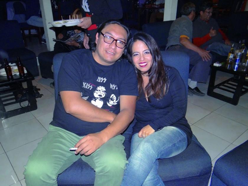 Christian Zárate y Yara Lazcano.