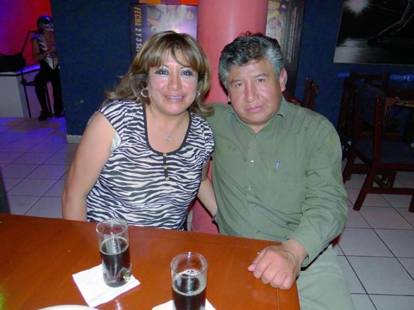 Janeth Ríos y Eddy Fuentes.