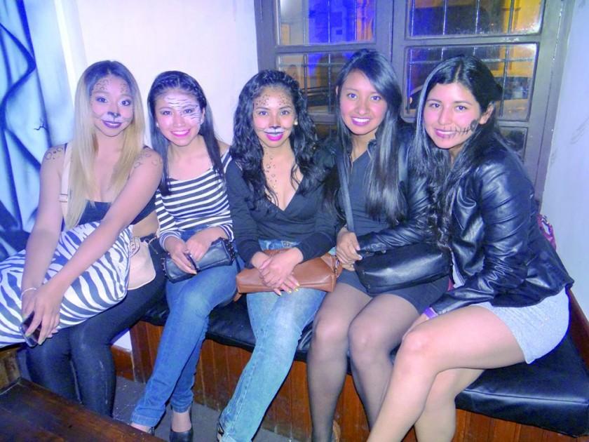 Fabiola, Pamela, Yesica, Fátima y Nineth.