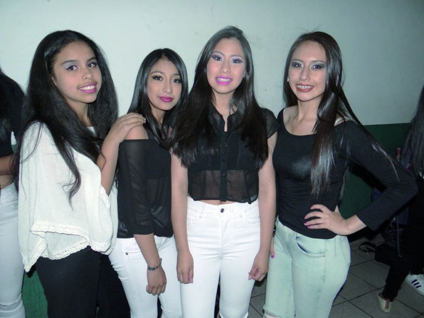 Emily Carrión, Andrea Rojas, Giovanna Flores y Carla Iglesias.