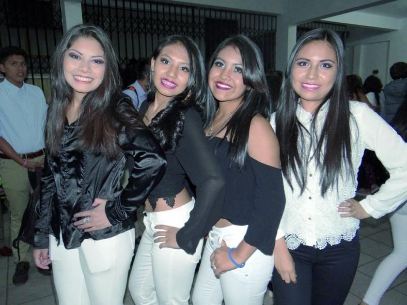 Vanessa Delgado, Michelle Hurtado, Alejandra Gómez  y Paola Corasi.