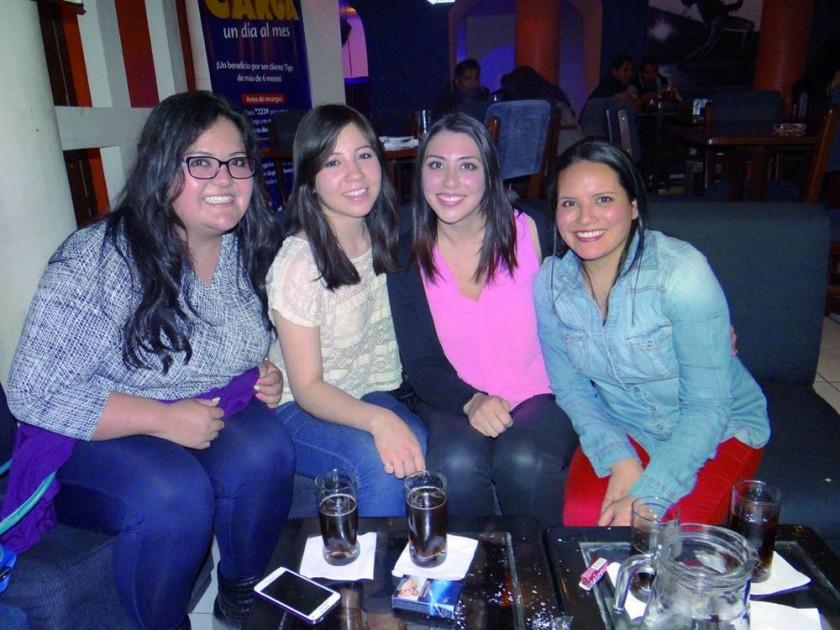 Yamile Tango, Gabriela Gutiérrez, Ximena Rivera y Carolina Torres.