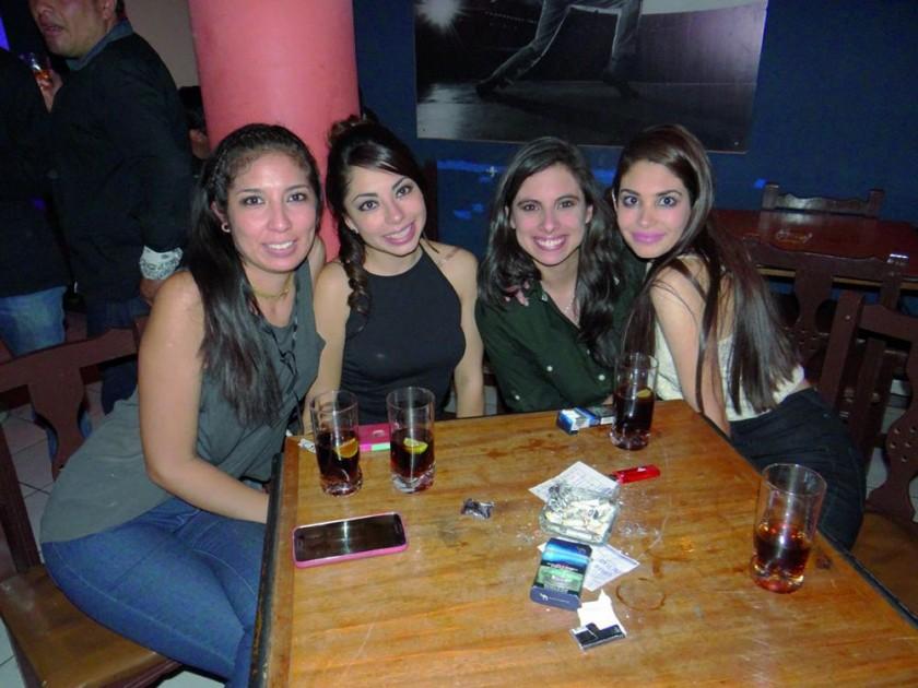Mane Tavel, Paola Pozo, Sarah Baptista y Alejandra Araujo.