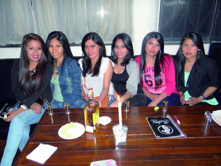 Jessica, Dayanira, Cristina, Yabandi, Judith y Liz.