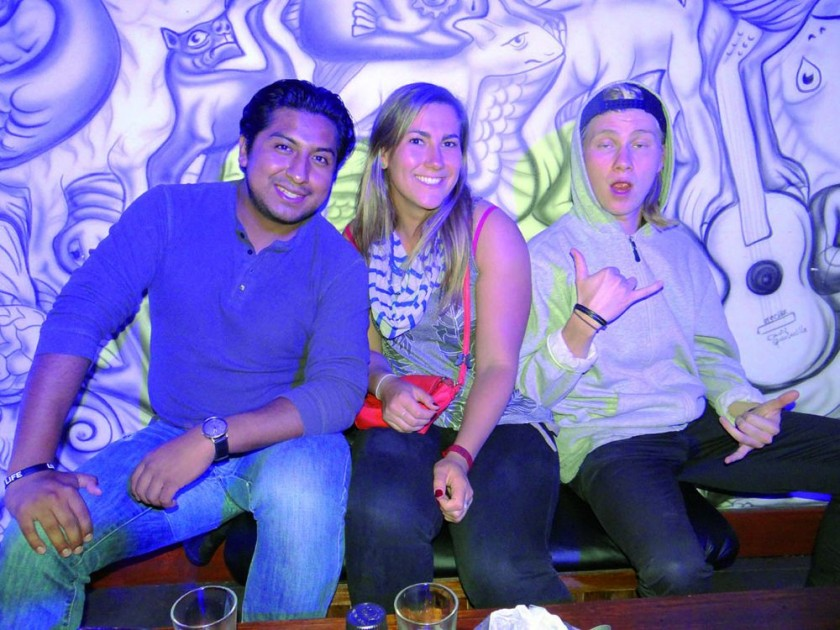 Vicente, Sandra y Jonathan.