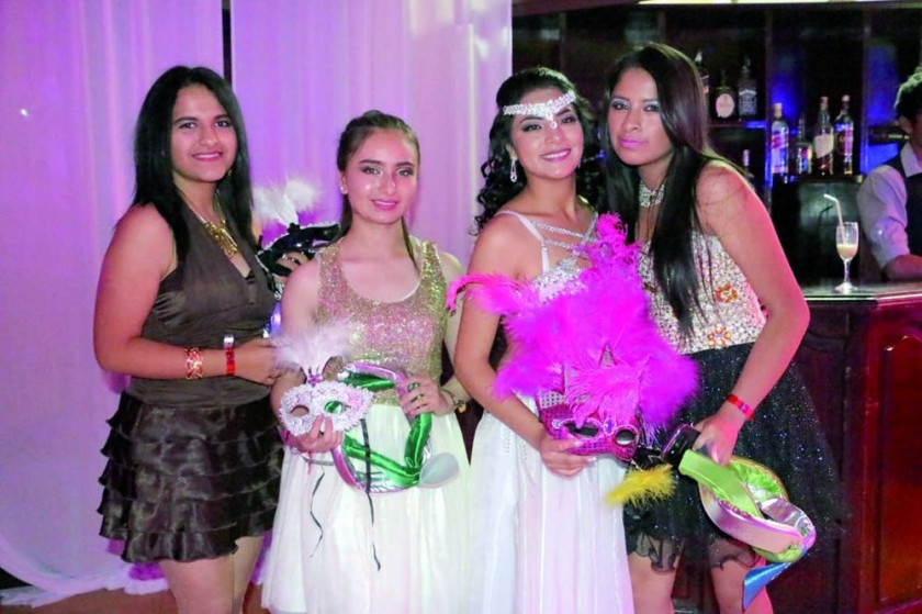 Martha Barrientos, Cecilia Quintanilla, Natalia Ortuste  y Ameriney Heredia.