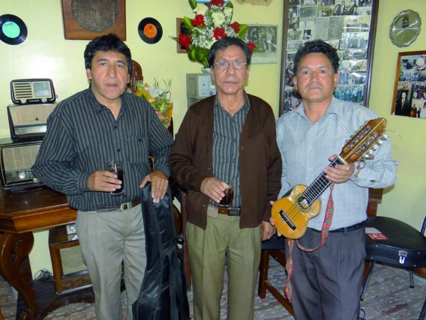 Alfredo Moro, Marcial Flores y Félix Vedia.