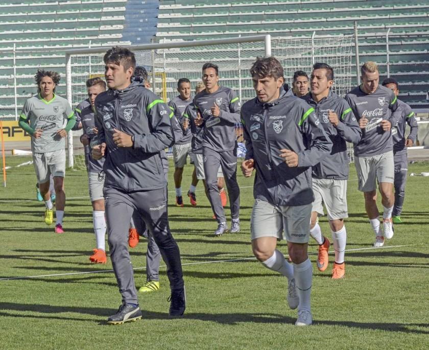 La Selección Nacional cerró prácticas ayer en el estadio Hernando Siles.