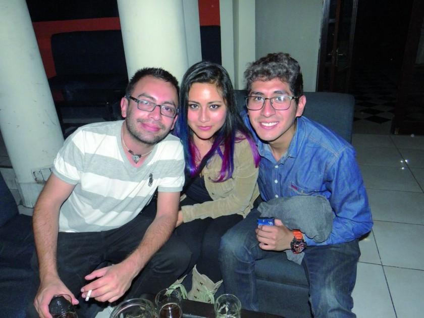 Ricardo Gorena, Paola Montecinos y César Morales.