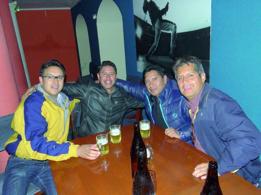 Oscar Zurita, Rubén Cornejo, Omar Choque y Edwin Medina.