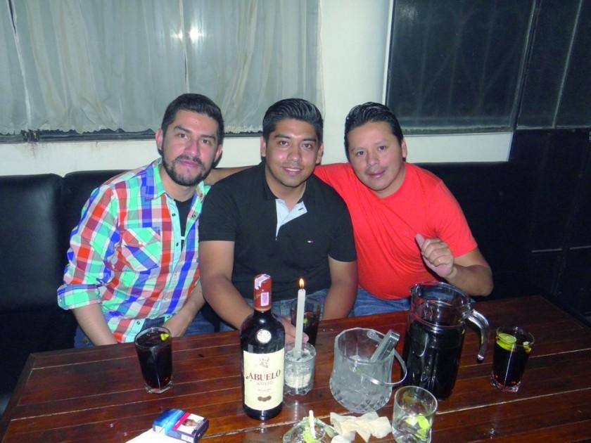 Rodrigo Nava, Dagner Rivera y Everth Zuñiga.