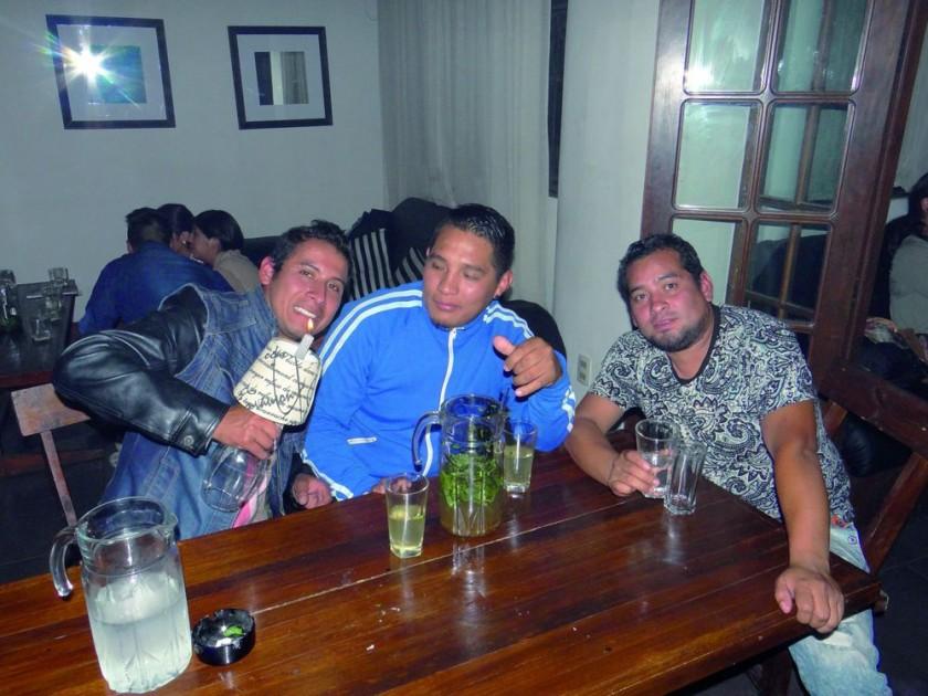 Luís Vedia, Gastón Fernández y Alejandro Mendoza