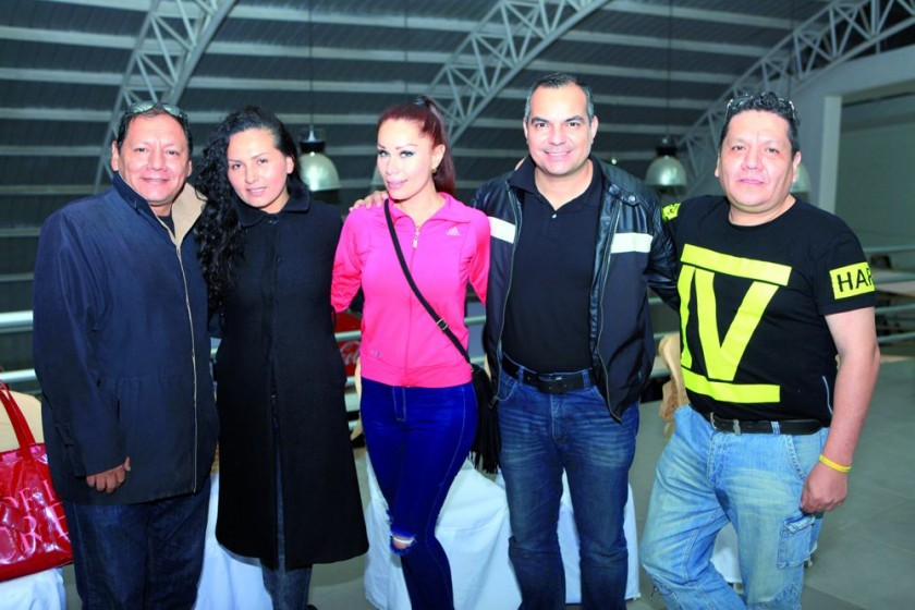 Rildert Orellana, Cinthia Ríos, Gabriela Torrico, Hernando Balcázar y José Orellana.