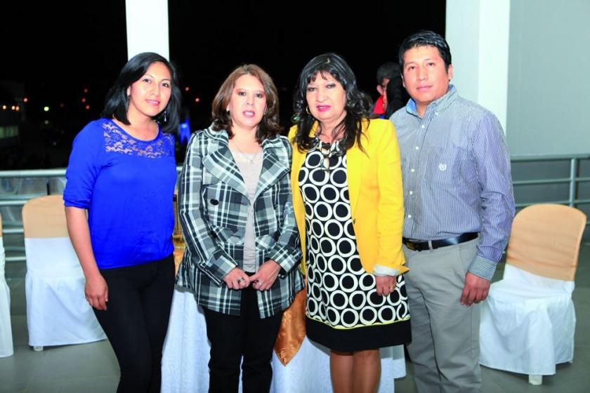 Lourdes Ance, Cinthia Castillo, María Teresa Dalenz y Cristian Fernández.