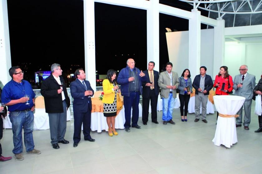 Autoridades e invitados durante el brindis de honor por la clausura de la Fexpo 2016.