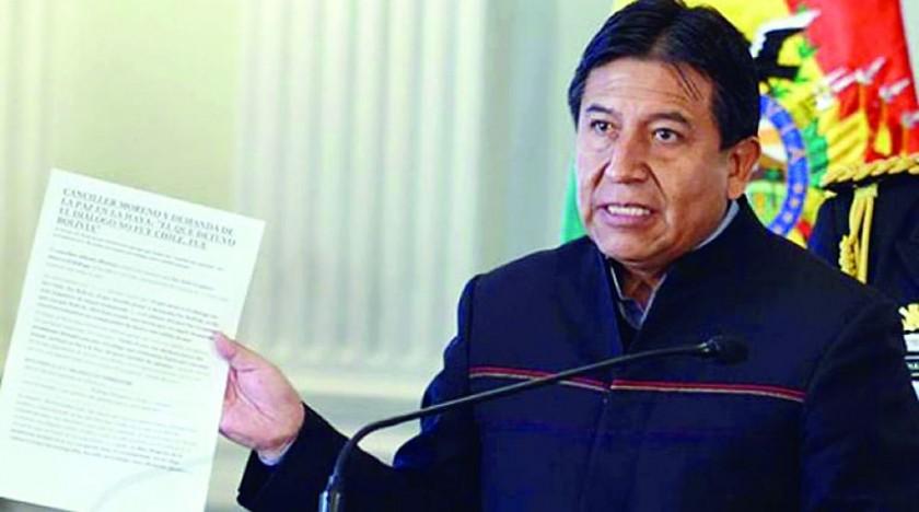 INFORME. David Choquehuanca brindó un informe sobre los viajes de dirigentes.