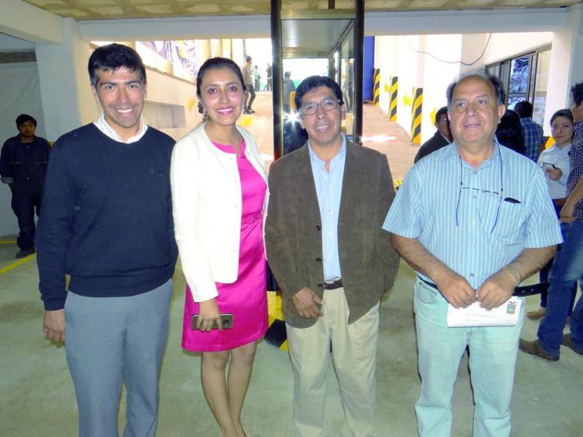 Darío Coronado, Rosa Pórcel, Rolando Pórcel  y Edgar Gutiérrez.