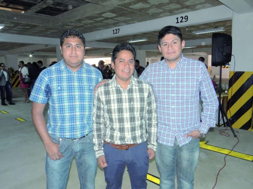 Constructoras: Eduardo Loayza, Minos; Abraham Valda, Cociva, e Iron Morales, Treca.