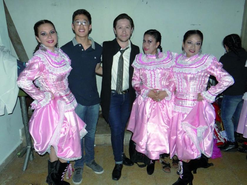 Isabel Orías, Andrés Marquiegüi, Dennis Zamorano, Jessica Cerezo y Janeth Oña.