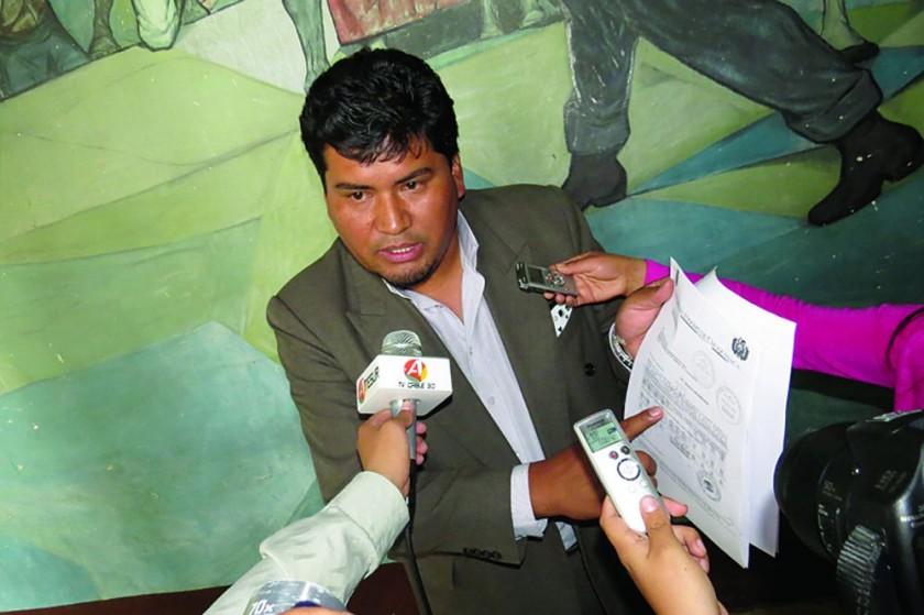 DENUNCIADO. El director del SEDES Chuquisaca, Martín Maturano, por un supuesto hecho de corrupción.