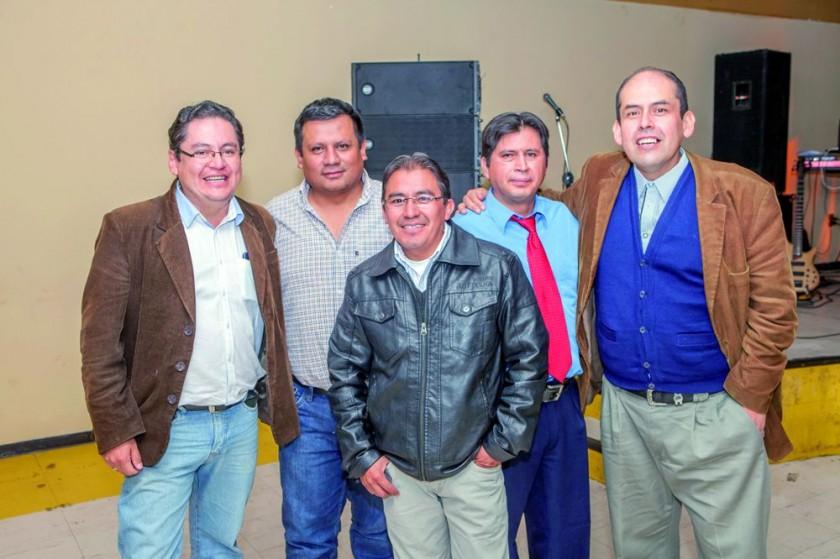 Miguel Amado, Ymber Flores, José Amurrio, Milton Gorena y Marco Reynolds.