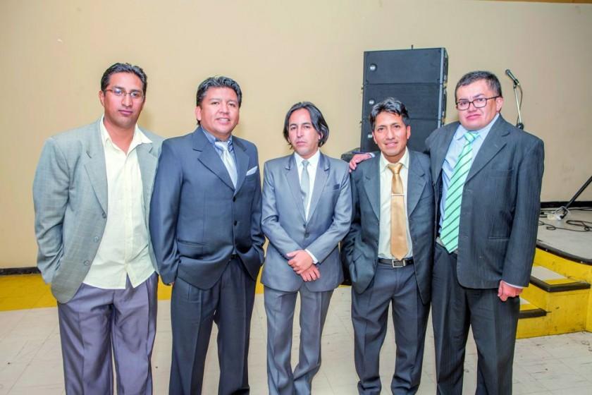 Luís Durán, Johnny Calderón, Harold Cabezas, Wilson Huanca y Hermes Saucedo.