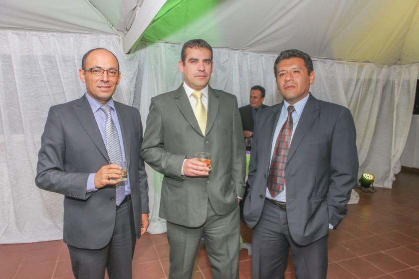 Rubén Roncal, Julio Pereira y Carlos Céspedes.?