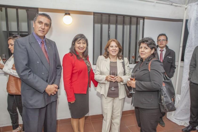 Oscar Laguna, María Teresa Dalenz, Cinthia Castillo y Mónica Mena.
