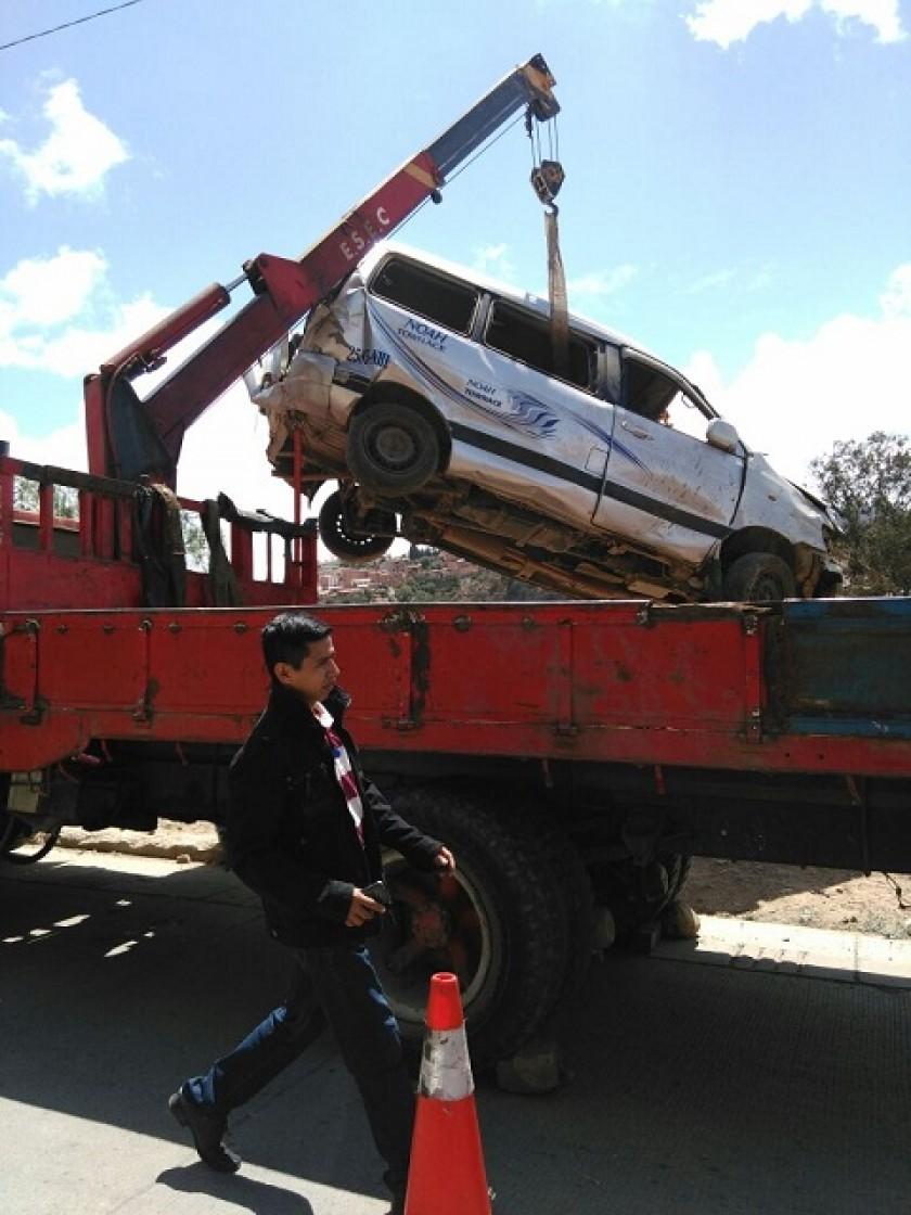 El surubí NOAH que volcó en Aranjuez. FOTO: GENTILEZA