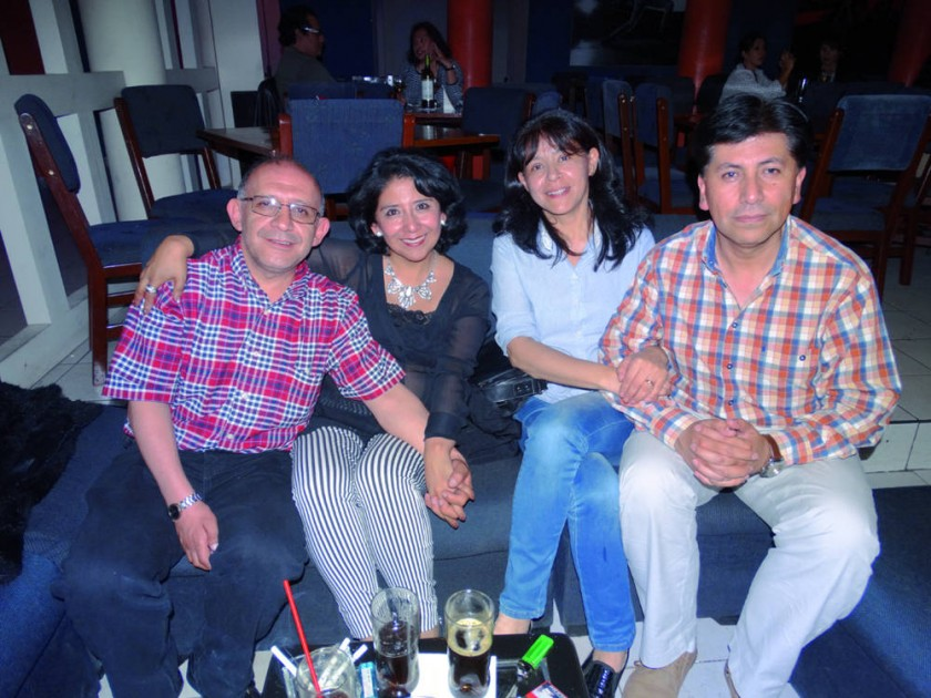 Gabriel Rojas, Mari Matienzo, Carola Lagrava y Efraín Mendoza
