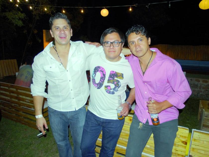Peppo Abastoflor, Rodrigo Arce y Mario Céspedes.