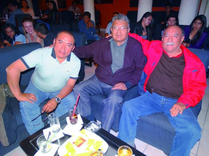 Vladimir Uribe, René Zarate y Hernán Uribe