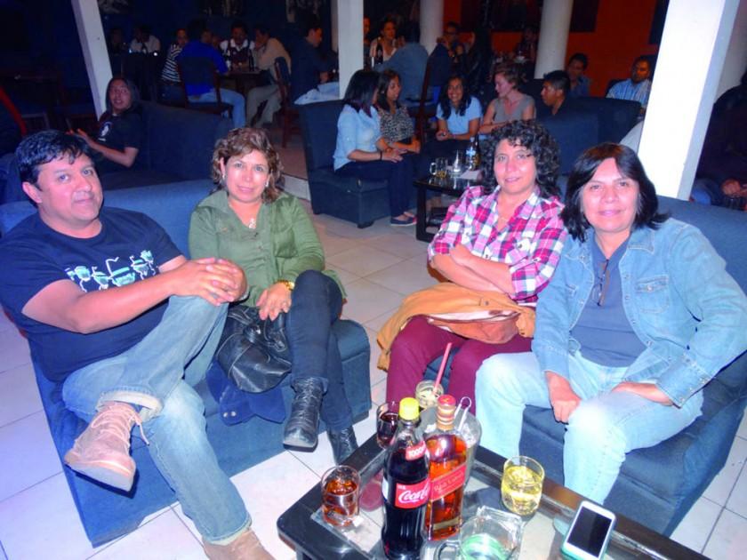 Marcelo Quinteros, Viviana Yáñez, Roxana Barrón y Rosario Navarro.