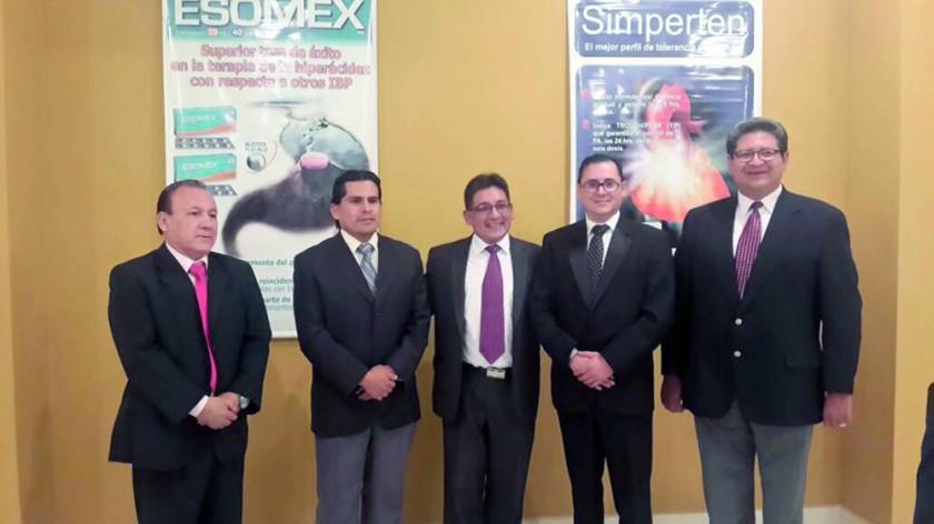 Domingo Alurralde, Juan Manuel Lluen, Silvio Durán, Pablo Arevalo y Joel Gutiérrez.