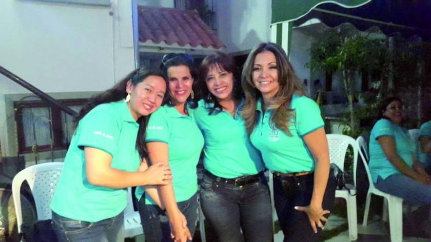 Milka Mancilla, Teresa Gantier, María Angélica Cardozo y Roxana Aprili.