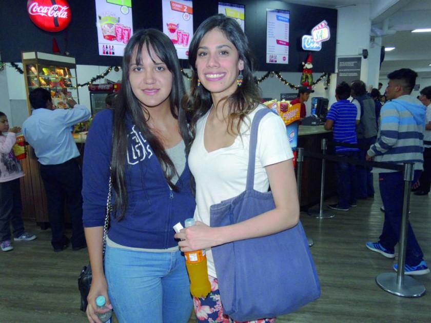 Lucia Amusquívar y Julia Loayza