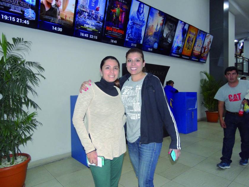 Sussy Valda y Gabriela Sahonero.