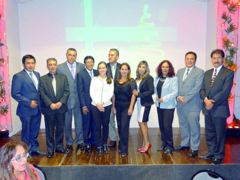 Presidente y ex directores de CAINCO Chuquisaca.