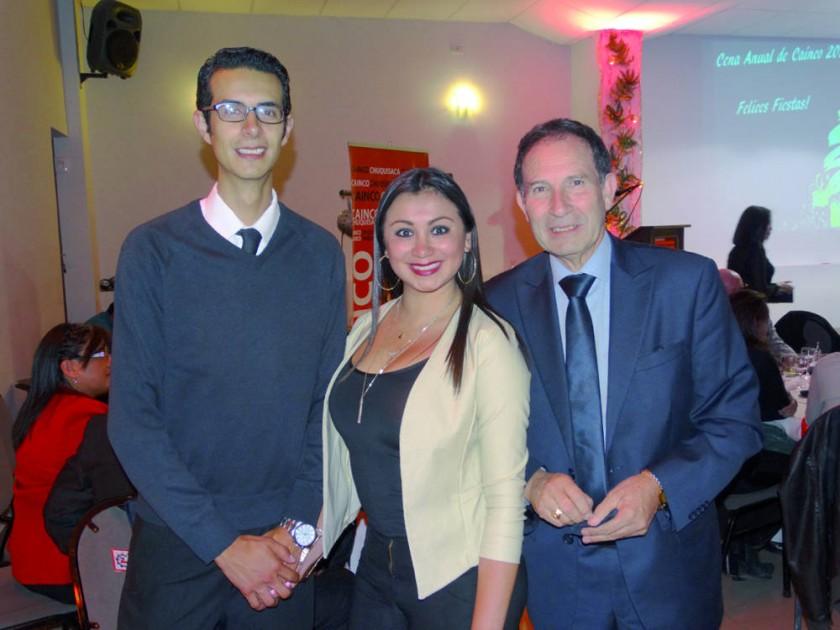 Gary Rojas, Jhulitza Taboada  y  Luis Rojas.