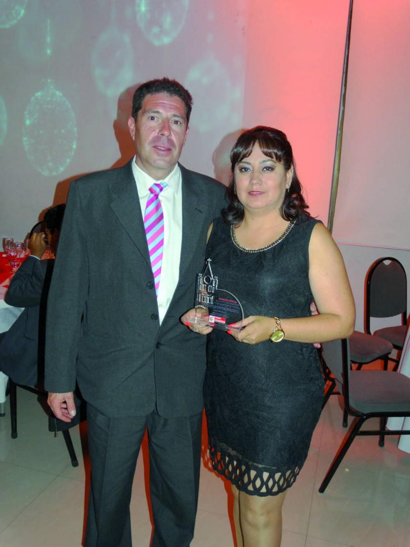 Jorge Velarde y Claudia Carvajal, La Vitalicia Seguros y Reaseguros de Vida.