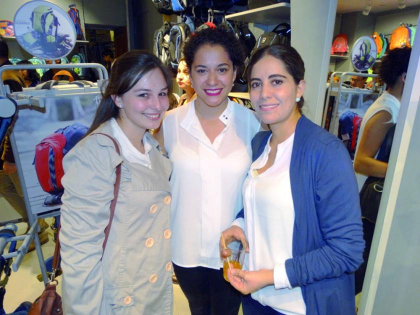 Laura Llobet, Luz María Iriarte y Tatiana Porcel.