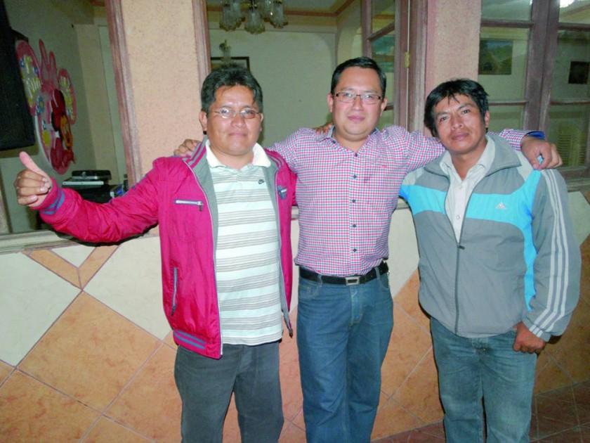 Ángel Ramos, Renán Martínez y José Luis Téllez.