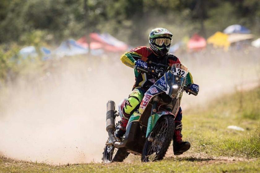 El motociclista Chavo Salvatierra. Foto: Gentileza
