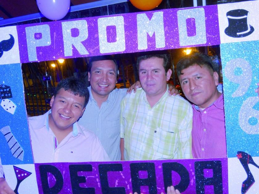 Luís Gómez, Rolando García, Adip Barriga y Marco Antonio Garzofino.