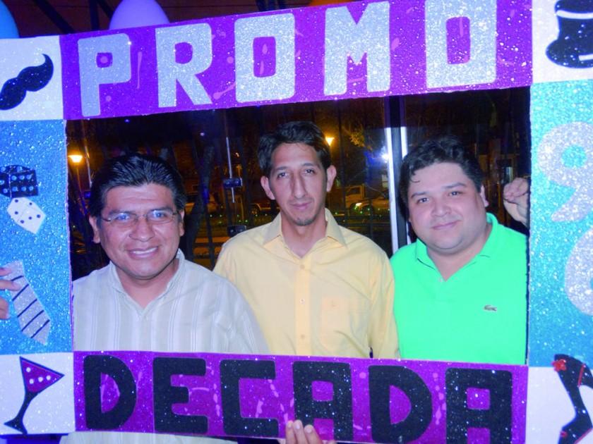 Manuel Arce, Rafael Mendoza y Gustavo Irusta.