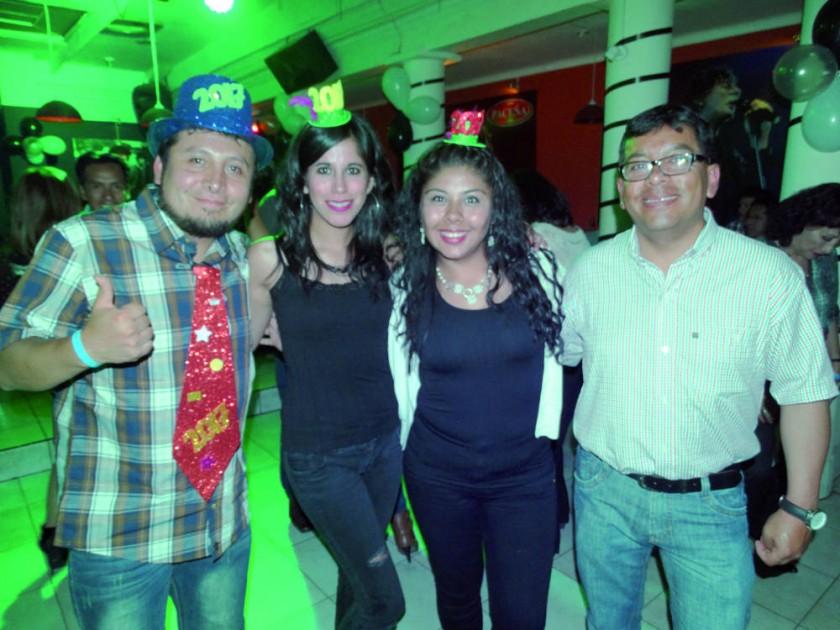 Javier Flores, Yamilca Gorostiaga, Tatiana Nina y Luis Benavides.