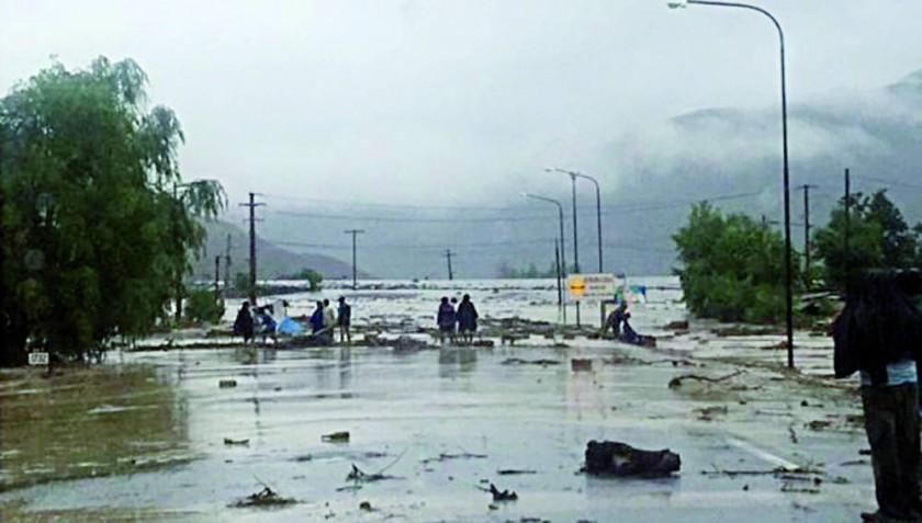 el enlace también sufrió cambios por las lluvias