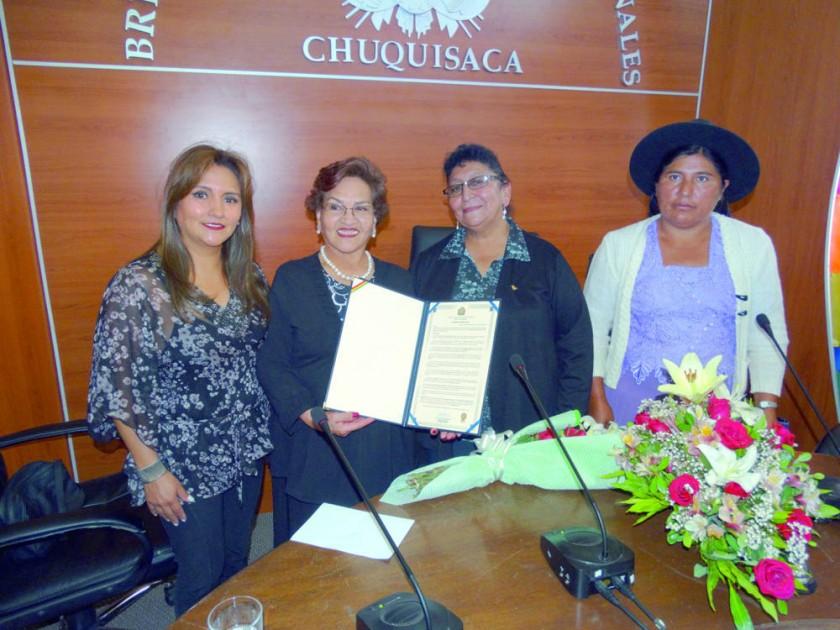 Carola Lenz, Graciela Olivares, Carmen Domínguez y Felipa Málaga.