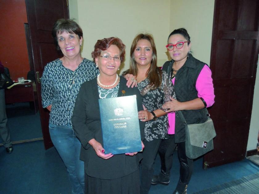 Rosario Rodríguez, Carola Lenz, Graciela Olivares y Soraya Dorado.