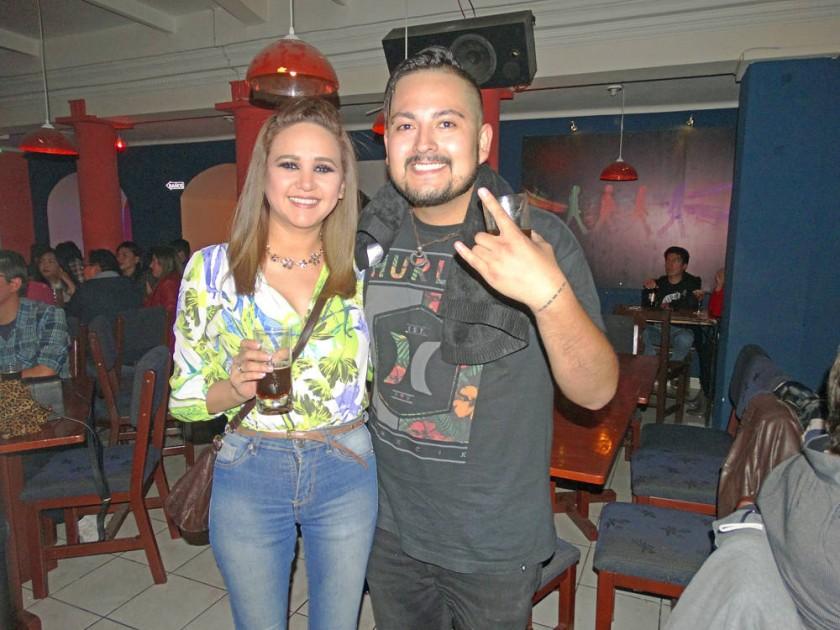 Sandra Gamarra y Rodrigo Alarcón.